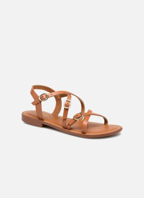 Sandales et nu-pieds L'Atelier Tropézien Louise Marron vue détail/paire