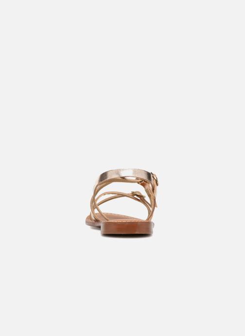 Sandales et nu-pieds L'Atelier Tropézien Louise Or et bronze vue droite