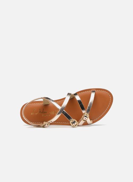 Sandales et nu-pieds L'Atelier Tropézien Louise Or et bronze vue gauche
