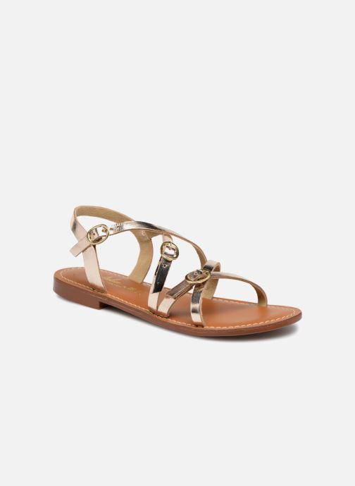 Sandals L'Atelier Tropézien Louise Bronze and Gold detailed view/ Pair view