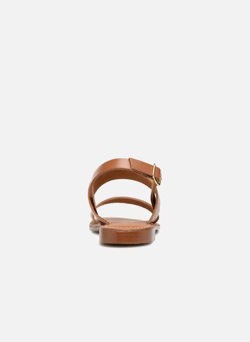 Sandales et nu-pieds L'Atelier Tropézien Mila Marron vue droite