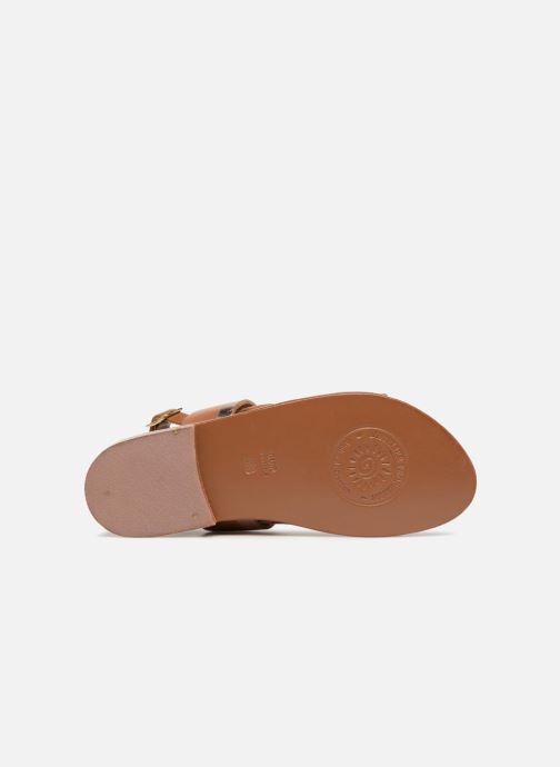Sandales et nu-pieds L'Atelier Tropézien Mila Marron vue haut