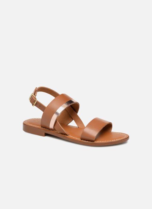 Sandales et nu-pieds L'Atelier Tropézien Mila Marron vue détail/paire