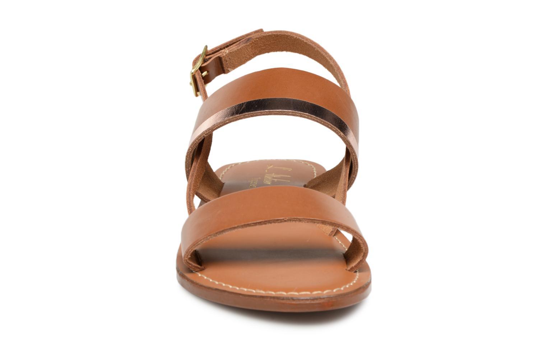 Sandales et nu-pieds L'Atelier Tropézien Mila Marron vue portées chaussures