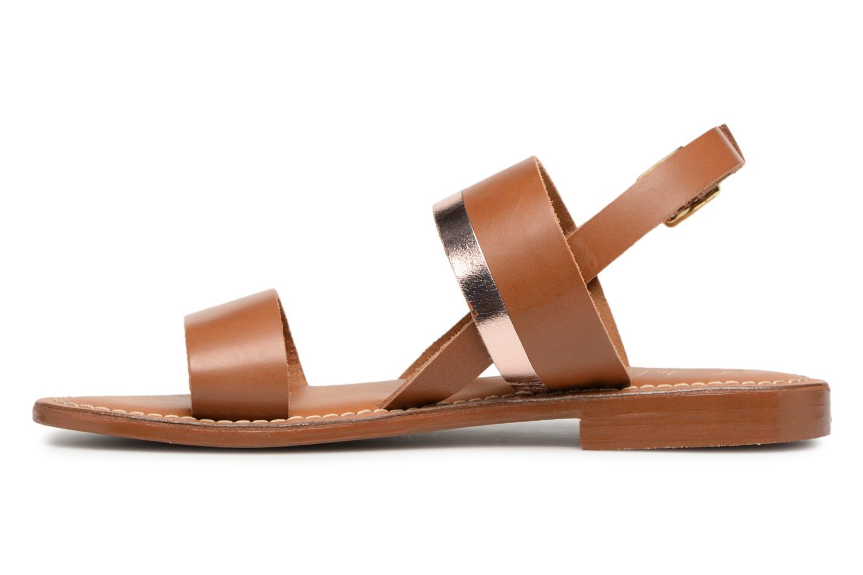 Sandales et nu-pieds L'Atelier Tropézien Mila Marron vue face