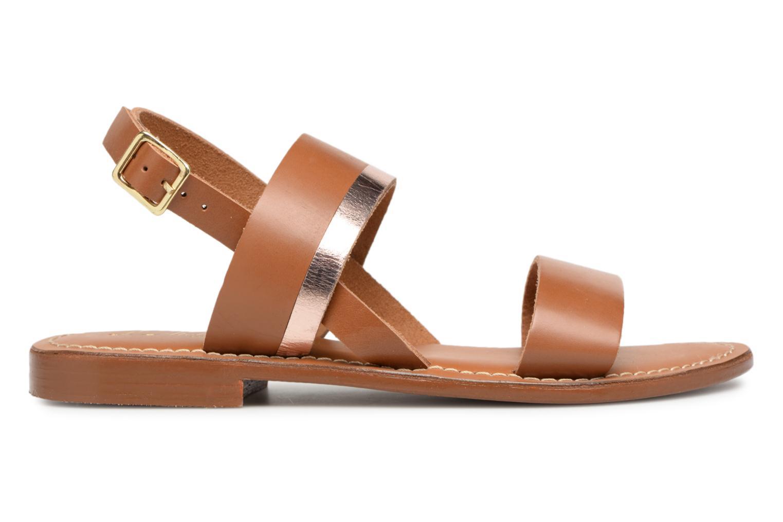 Sandales et nu-pieds L'Atelier Tropézien Mila Marron vue derrière