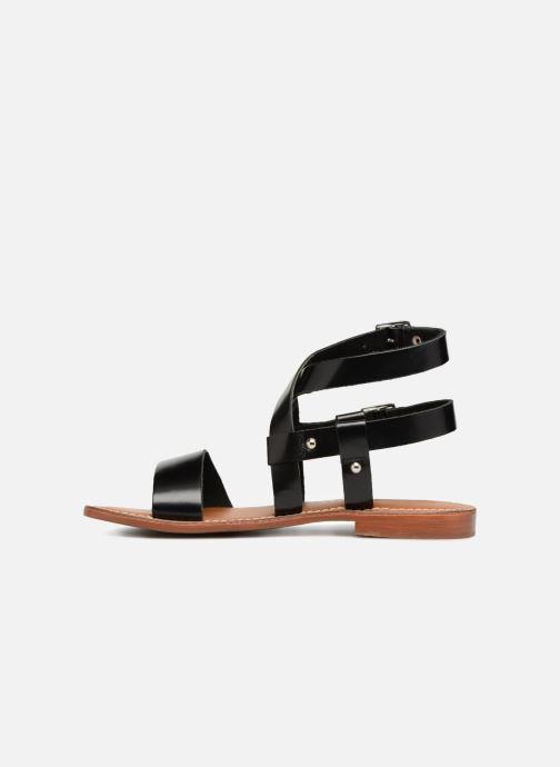 Sandales et nu-pieds L'Atelier Tropézien Lina Noir vue face