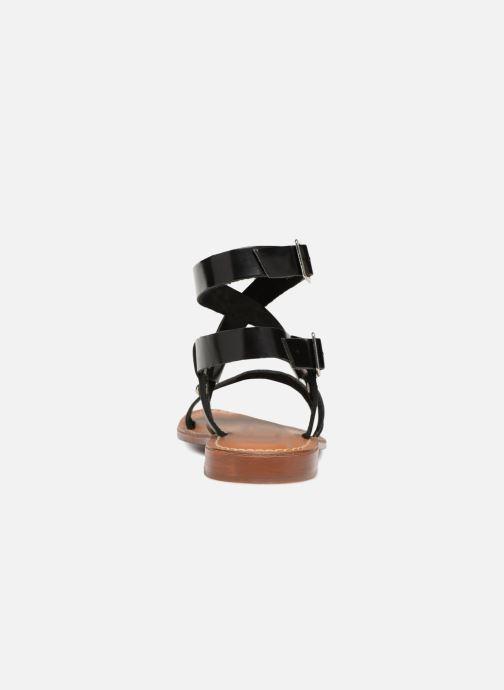 Sandales et nu-pieds L'Atelier Tropézien Lina Noir vue droite