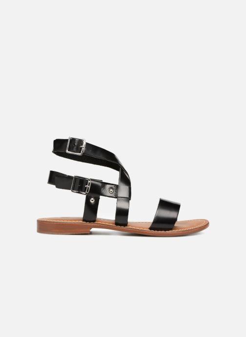 Sandales et nu-pieds L'Atelier Tropézien Lina Noir vue derrière
