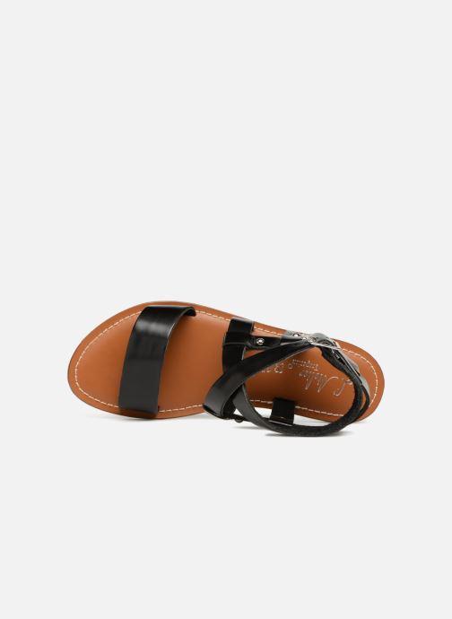Sandales et nu-pieds L'Atelier Tropézien Lina Noir vue gauche