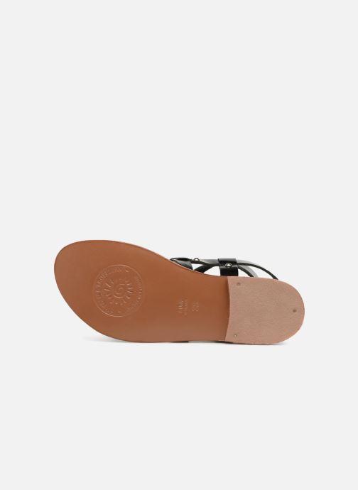 Sandales et nu-pieds L'Atelier Tropézien Lina Noir vue haut
