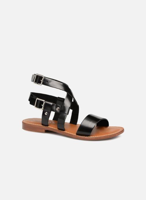 Sandales et nu-pieds L'Atelier Tropézien Lina Noir vue détail/paire