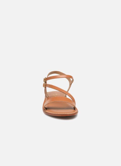 Sandales et nu-pieds L'Atelier Tropézien Ines Marron vue portées chaussures