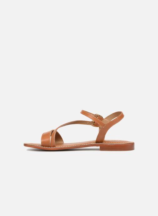 Sandales et nu-pieds L'Atelier Tropézien Ines Marron vue face