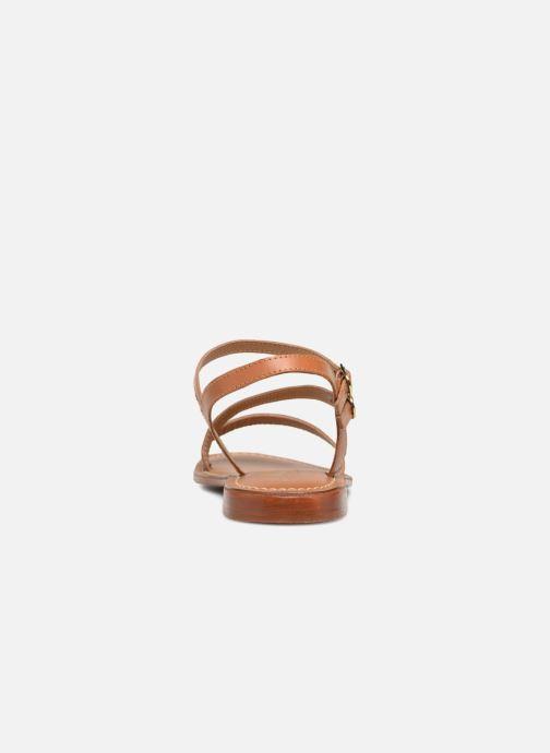 Sandales et nu-pieds L'Atelier Tropézien Ines Marron vue droite