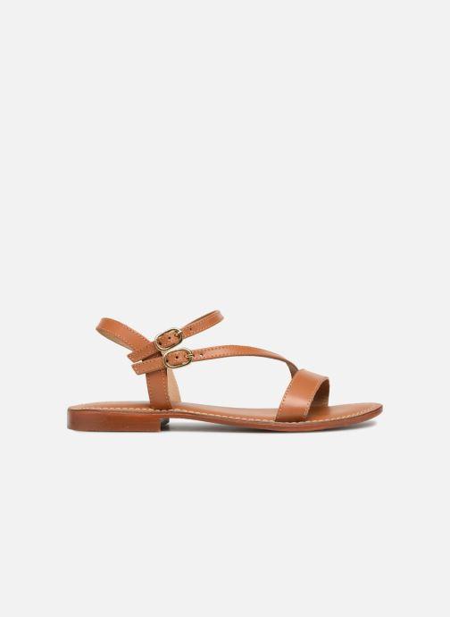 Sandales et nu-pieds L'Atelier Tropézien Ines Marron vue derrière
