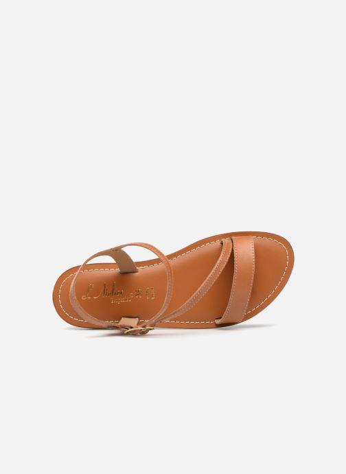 Sandales et nu-pieds L'Atelier Tropézien Ines Marron vue gauche