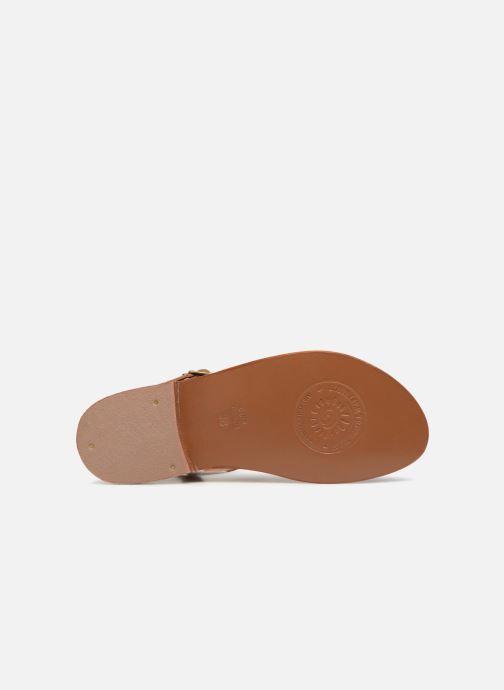 Sandales et nu-pieds L'Atelier Tropézien Ines Marron vue haut