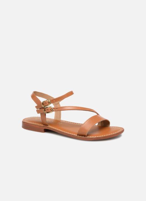 Sandales et nu-pieds L'Atelier Tropézien Ines Marron vue détail/paire