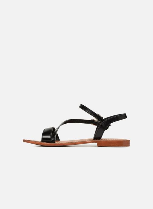 Sandales et nu-pieds L'Atelier Tropézien Ines Noir vue face