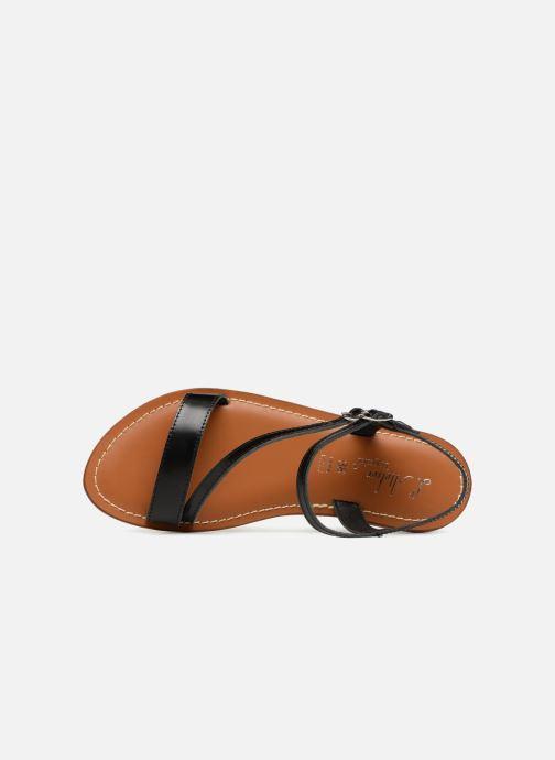 Sandales et nu-pieds L'Atelier Tropézien Ines Noir vue gauche