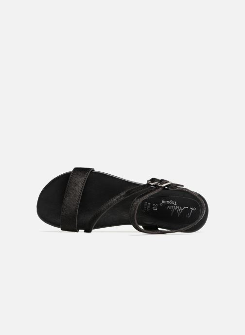 Sandales et nu-pieds L'Atelier Tropézien Margaux Noir vue gauche