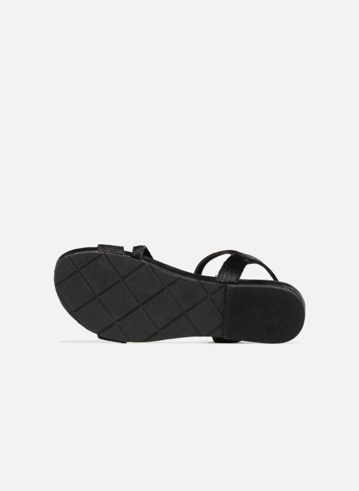 Sandales et nu-pieds L'Atelier Tropézien Margaux Noir vue haut