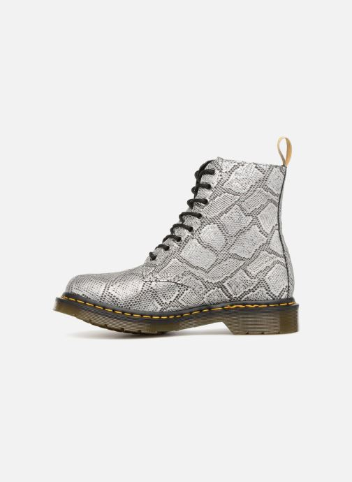 Boots en enkellaarsjes Dr. Martens Vegan Pascal Metallic Grijs voorkant