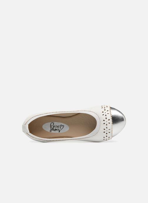 Ballerines I Love Shoes Kilina Blanc vue gauche