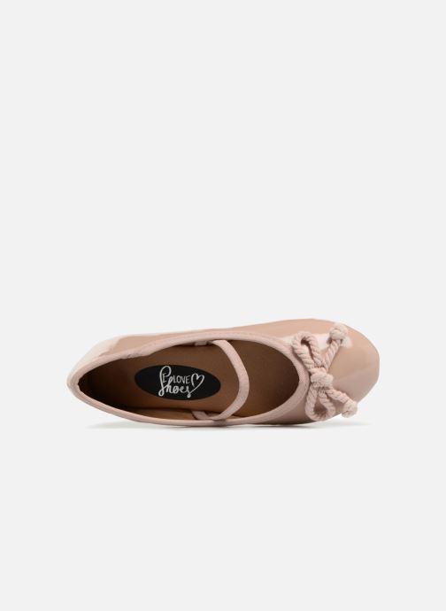 Bailarinas I Love Shoes Kibella Beige vista lateral izquierda