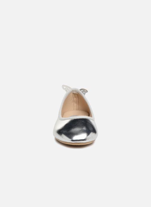 Ballerinas I Love Shoes Kifly silber schuhe getragen