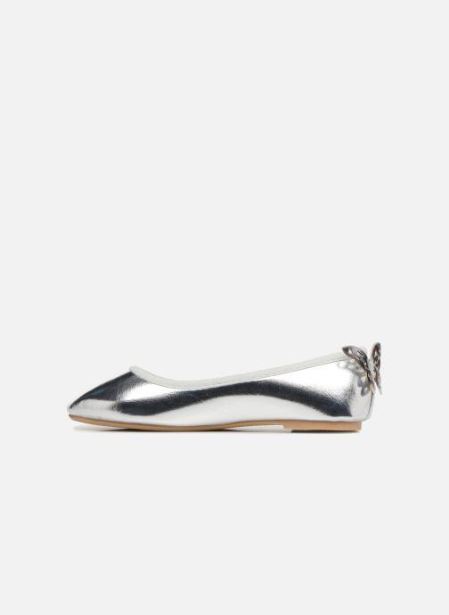 Ballerinas I Love Shoes Kifly silber ansicht von vorne