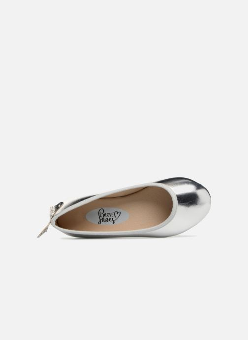 Ballerinas I Love Shoes Kifly silber ansicht von links