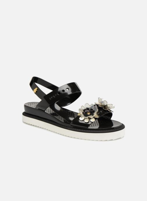 Sandals Lemon Jelly Ginko 01 Black detailed view/ Pair view