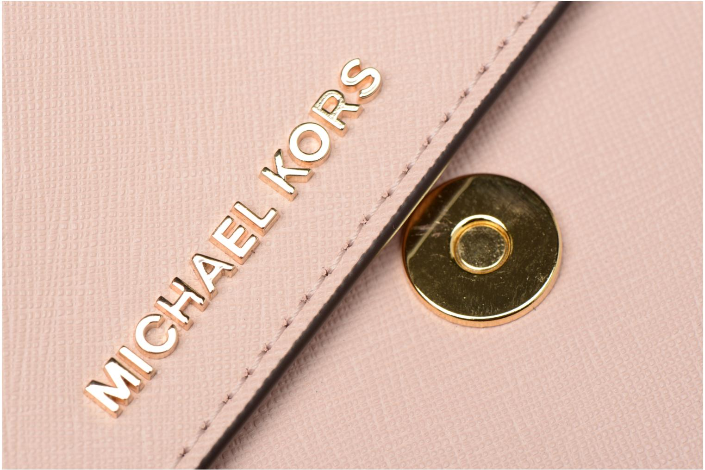 Bolsos de mano Michael Michael Kors LG Gusset Crossbody Rosa vista lateral izquierda
