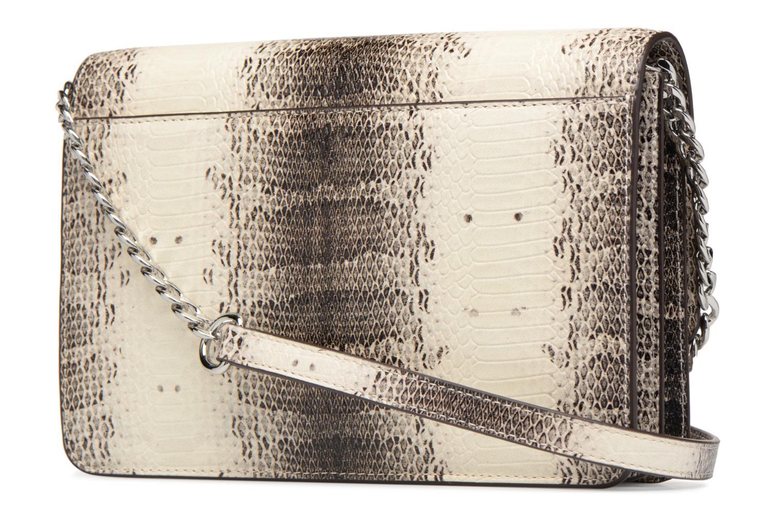 Bolsos de mano Michael Michael Kors LG Gusset Crossbody Beige vista lateral derecha