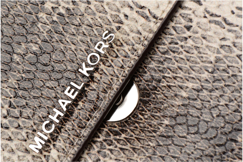 Bolsos de mano Michael Michael Kors LG Gusset Crossbody Beige vista lateral izquierda