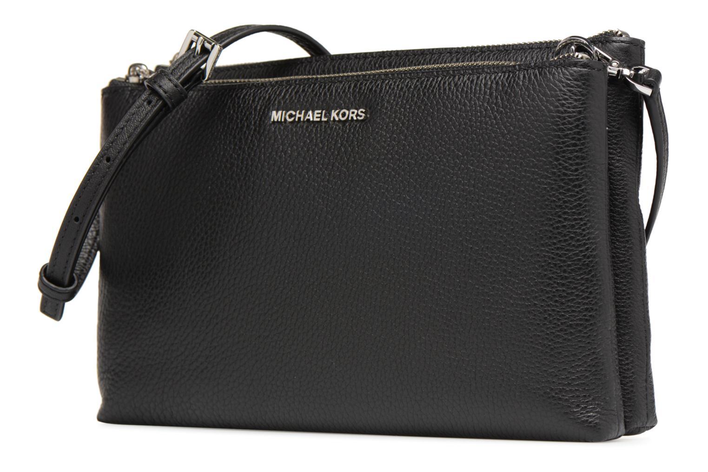Bolsos de mano Michael Michael Kors Double Zip Crossbody Negro vista del modelo