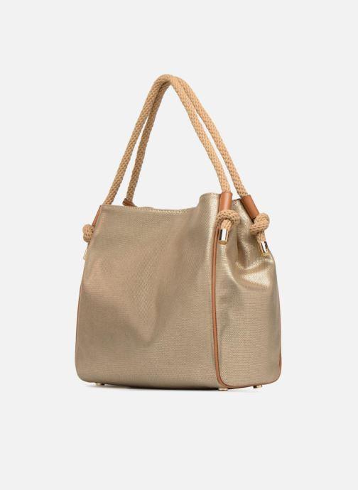 Sacs à main Michael Michael Kors Isla LG Grab Bag Or et bronze vue droite