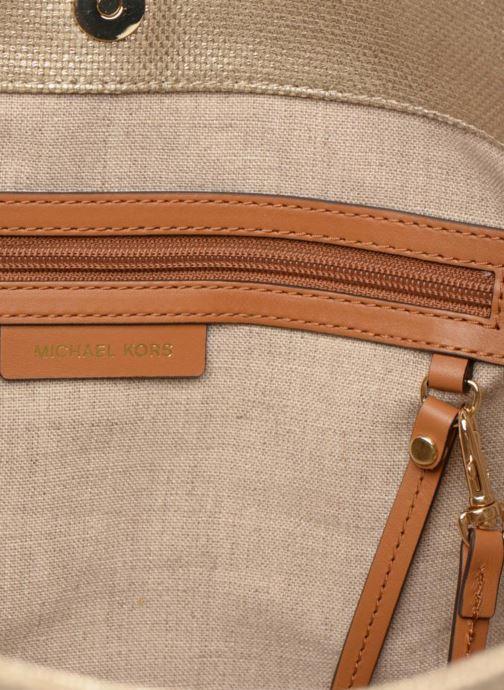Bolsos de mano Michael Michael Kors Isla LG Grab Bag Oro y bronce vistra trasera