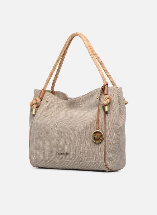 Handtaschen Michael Michael Kors Isla LG Grab Bag weiß schuhe getragen