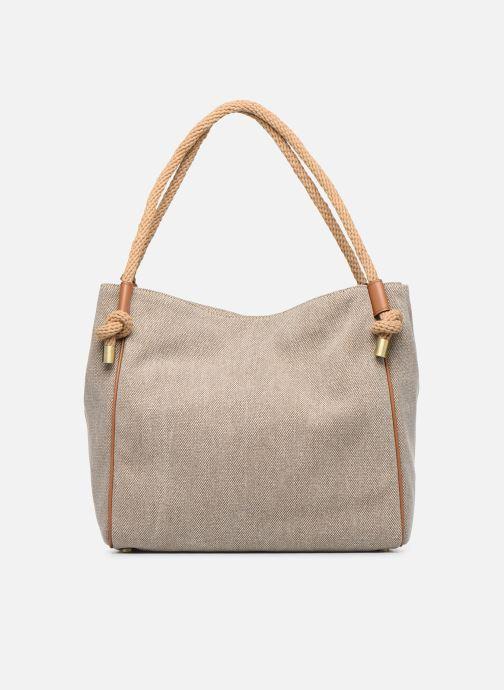 Sacs à main Michael Michael Kors Isla LG Grab Bag Blanc vue face