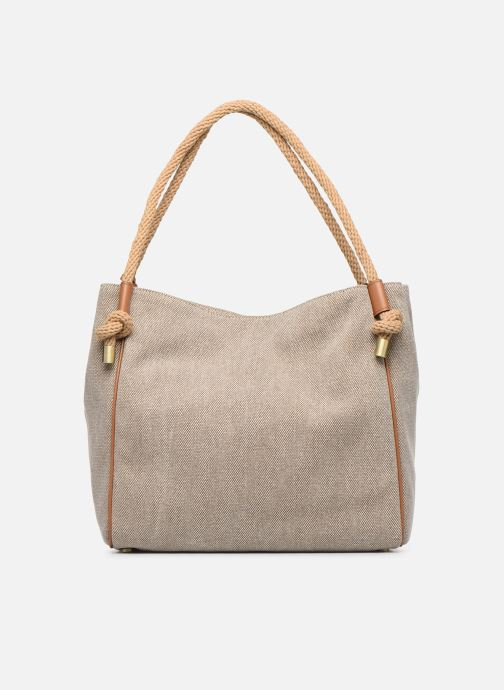 Bolsos de mano Michael Michael Kors Isla LG Grab Bag Blanco vista de frente
