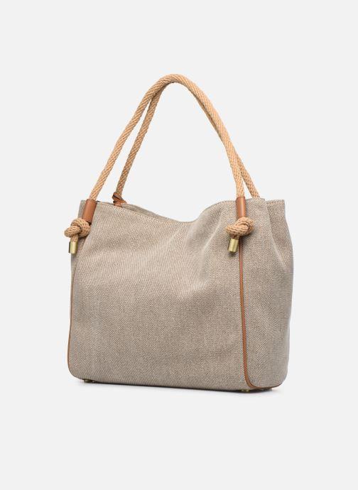Sacs à main Michael Michael Kors Isla LG Grab Bag Blanc vue droite
