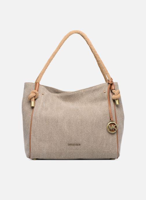Bolsos de mano Michael Michael Kors Isla LG Grab Bag Blanco vista de detalle / par