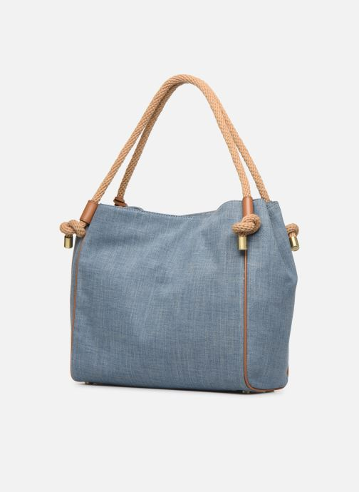 Sacs à main Michael Michael Kors Isla LG Grab Bag Bleu vue droite