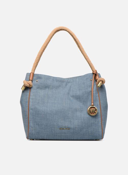 Sacs à main Michael Michael Kors Isla LG Grab Bag Bleu vue détail/paire