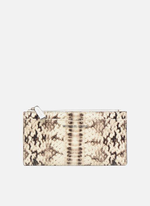 Kleine lederwaren Michael Michael Kors LG Slim Cardcase Beige detail