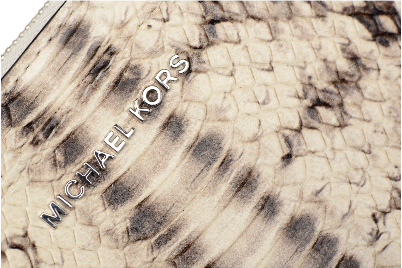 Marroquinería pequeña Michael Michael Kors LG Slim Cardcase Beige vista lateral izquierda