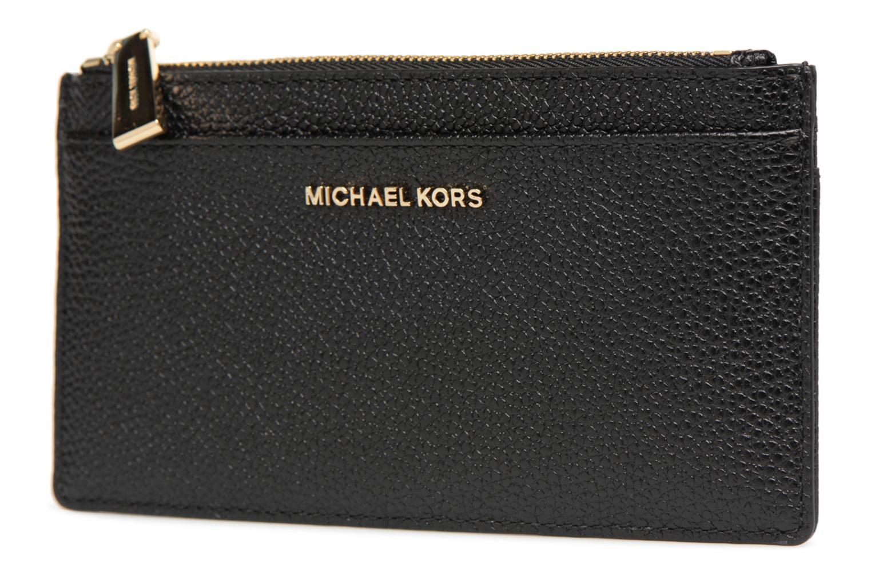 Marroquinería pequeña Michael Michael Kors LG Slim Cardcase Negro vista del modelo